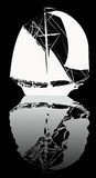 Boat silhouette Royalty Free Stock Photos