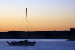 Boat silhouette Royalty Free Stock Images