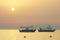 Free Boat Silhouette At Sunrise 2 Stock Photo - 574840