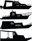 Boat silhouette vector Royalty Free Stock Image
