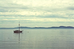 Boat. Single boat out on the water Royalty Free Stock Photography