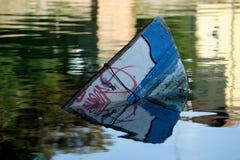 Boat. Sinking boat, Rimini, Emilia Romagna, Italy Royalty Free Stock Photo