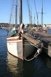 Boat with skull symbol. In Stockholm, Sweden royalty free stock images