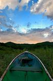 Boat & sky. Morning,fresh air,beautiful sky Stock Photos