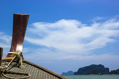 Boat and sky in Krabi Royalty Free Stock Photos
