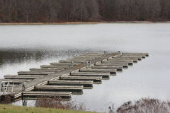 Boat Slips. Marina empty of boats during the early winter season in North America  Boat slips empty Stock Images