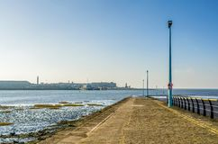 Boat slipway at Knott End-on-sea. Stock Photos