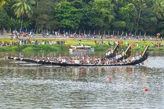 Boat are  in  race in Kerala India. stock images