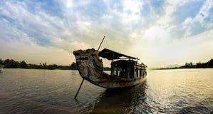 Boat in Song Huong River. Boat at Song Huong river hue , Viet Nam Royalty Free Stock Photos