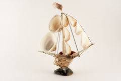 Boat. Souvenir ship made of shells Royalty Free Stock Image