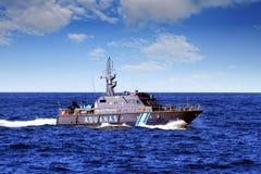 Coastguard of the Spanish Agencia Tributaria Royalty Free Stock Photo