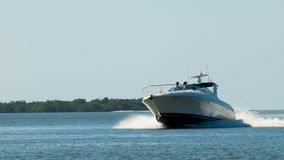 Boat. Speed boat at Ten Thousand Islands, florida royalty free stock photo