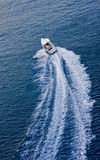 Boat Speeding Away Royalty Free Stock Photos