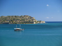 Boat at spinalonga Royalty Free Stock Photo