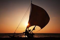 Boat on Sri Lanka Royalty Free Stock Images