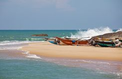 Boat on Sri Lanka Royalty Free Stock Image