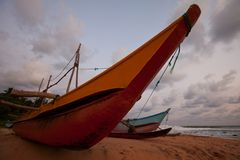 Boat on Sri Lanka Royalty Free Stock Images