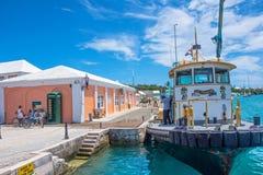 Boat St. George`s Bermuda Stock Photo