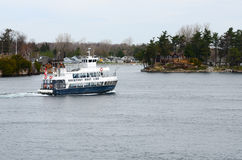 Boat on St Lawrence river Royalty Free Stock Photography