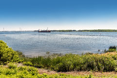 Boat on the St. Lawrence Seaway Royalty Free Stock Images