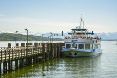 Boat on Starnberger See, Bavaria, Germany Stock Photography