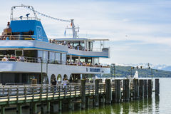 Boat on Starnberger See, Bavaria, Germany Stock Photos