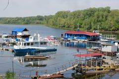 Boat station Stock Image