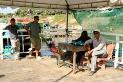 Boat station. Lake Tonle Sap Cambodia. Stock Image