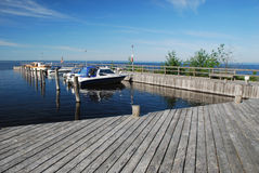 Boat station in Manamansalo island, Finland Royalty Free Stock Images