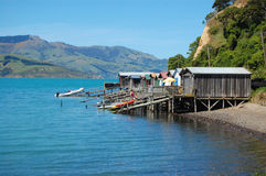 Boat station New Zealand Stock Photo