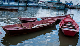 The boat. Stay fishermen used to fishing boat in the river waterrn Stock Photos