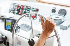 Boat steering Stock Photos