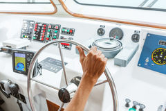 Boat steering Royalty Free Stock Photography