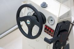 Boat steering wheel Stock Photos