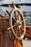 Boat steering wheel royalty free stock image