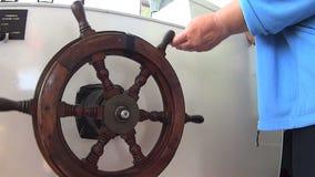 Boat Steering Wheel stock footage