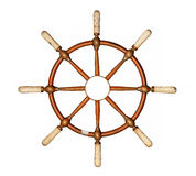 Boat steering wheel cutout Royalty Free Stock Photos