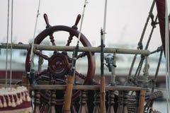 Boat steering wheel Stock Images