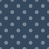 Boat steering wheel pattern on navy blue background. Royalty Free Stock Image