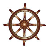 Boat steering wheel Stock Photos