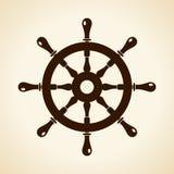 Boat steering wheel vector icon Royalty Free Stock Image