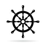 Boat steering wheel vector icon royalty free illustration