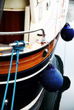 Boat stern with fenders Stock Images