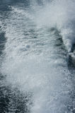Boat stern waves Stock Photos