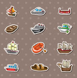 Boat stickers Stock Photos