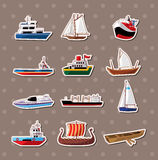 Boat stickers. Cartoon vector  illustration Stock Photography