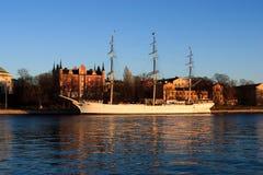 Boat in Stockholm Stock Photo