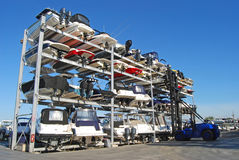 Boat Storage Facility Royalty Free Stock Photography