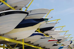 Boat Storage Facility Royalty Free Stock Photo