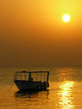 Boat. sunrise Royalty Free Stock Images